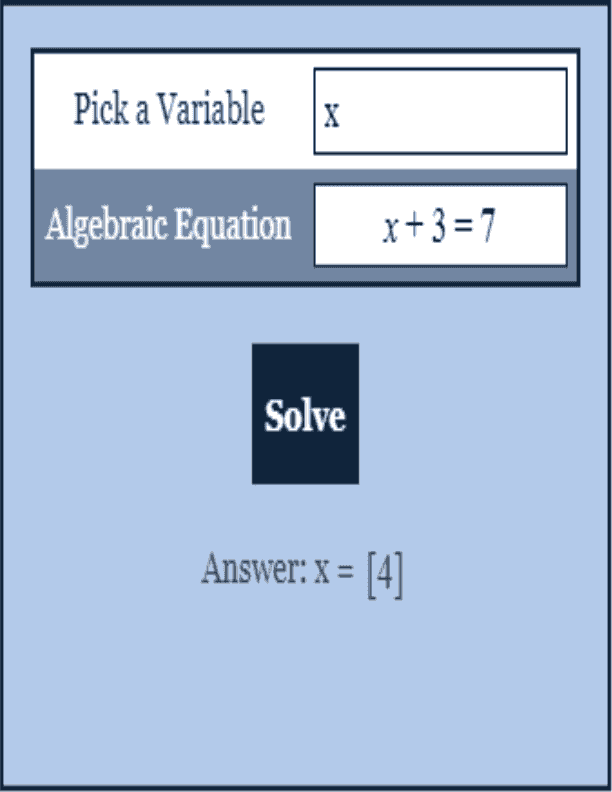 Solve For X Calculator