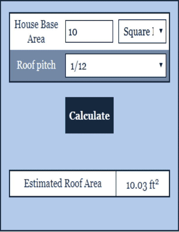 Roofing Area Calculator Construction Calculator