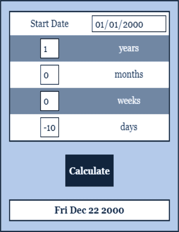 Add and Subtract Dates Date Calculator