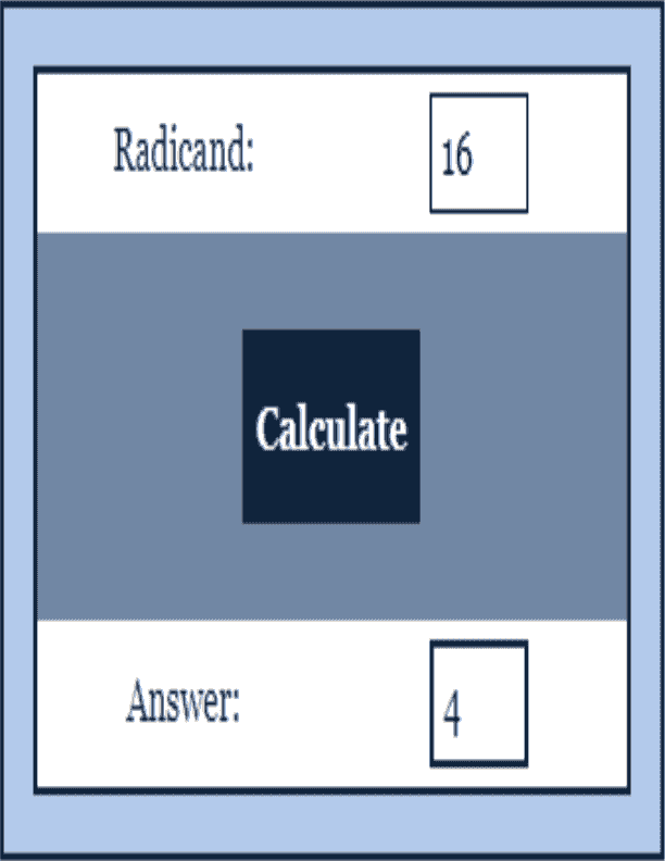 Square Root Calculator Function Calculator