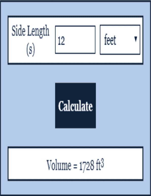 Volume Calculator Geometry Calculator